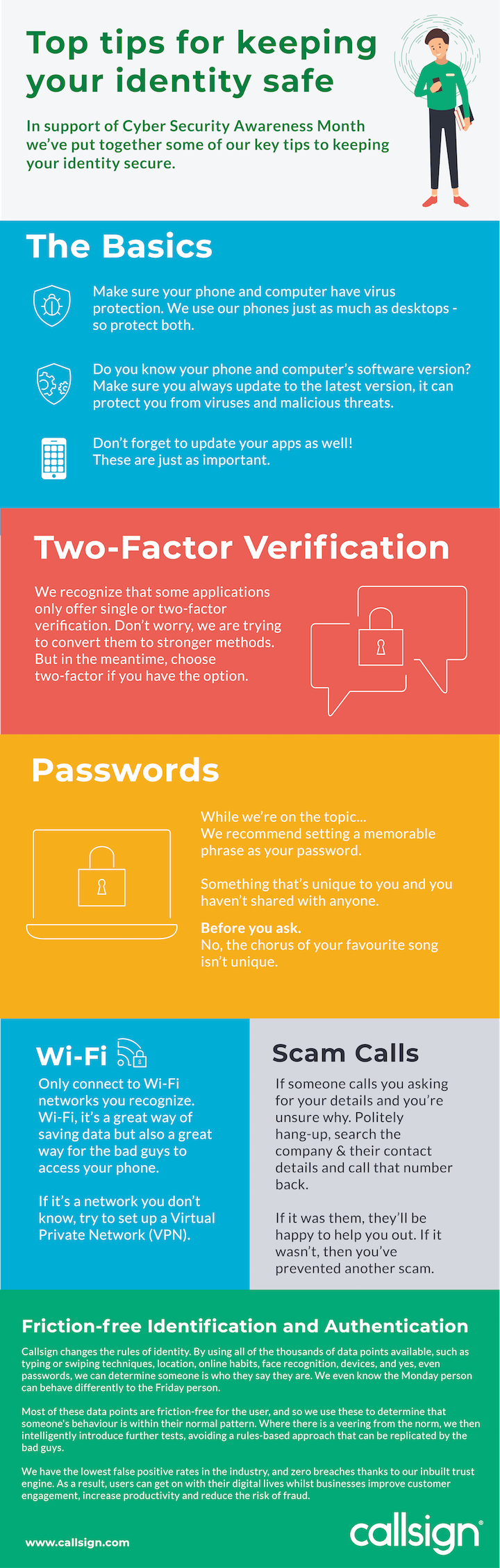 Security tips infographic